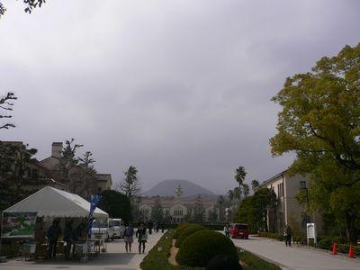 関西学院大 正門からの景色