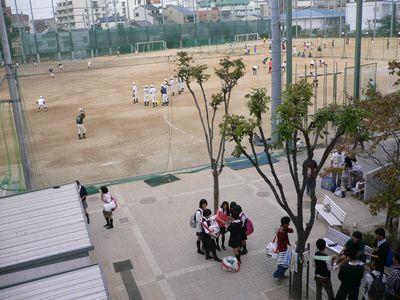 天王寺高 校内